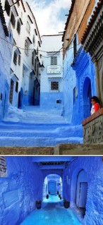 Strada Albastră, din Chefchaouen, Maroc
