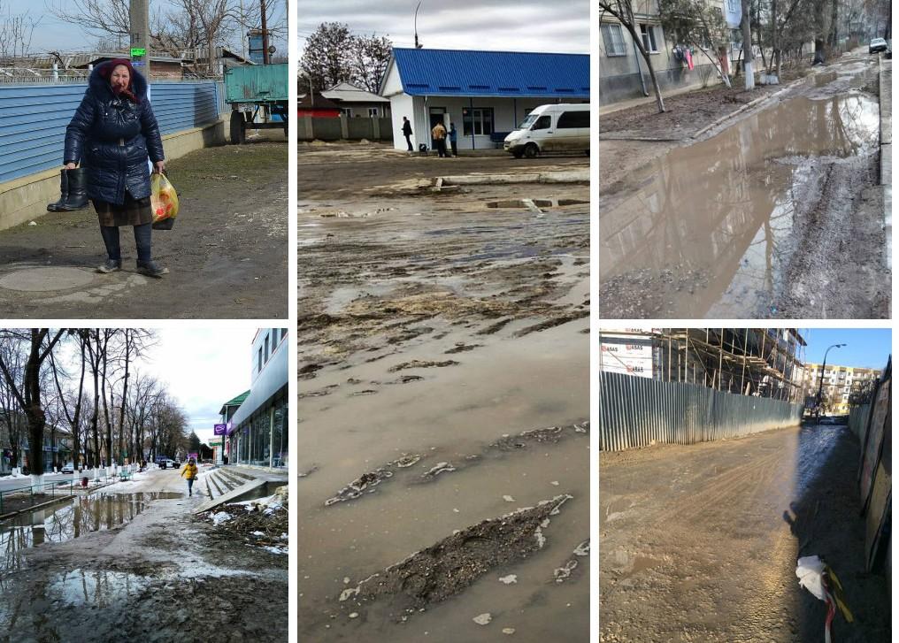 (GALERIE FOTO) Glodul a pus stăpânire pe Republica Moldova: Chişinăul – oraşul noroi pe timp de iarnă
