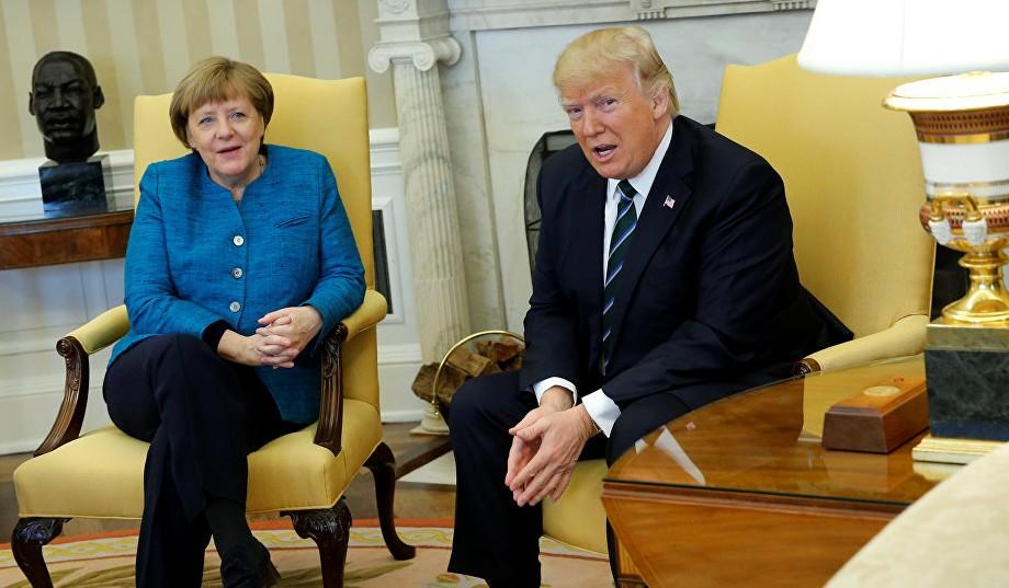 (VIDEO) Ziua în care Donald Trump i-a amuțit pe toți: Gest de sfidare la adresa Angelei Merkel