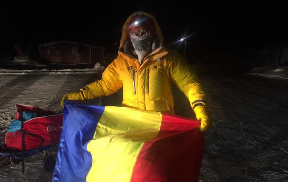 (FOTO și VIDEO) Românul Tibi Ușeriu a câștigat, pentru al doilea an consecutiv, ultramaratonul de la Cercul Polar