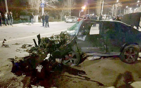 (FOTO) Accident groaznic la Tiraspol. Un șofer de 25 de ani, mort pe loc
