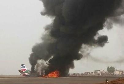 Sudanul de Sud: Un avion de pasageri s-a prăbușit la aterizare, numărul victimelor nu este cunoscut