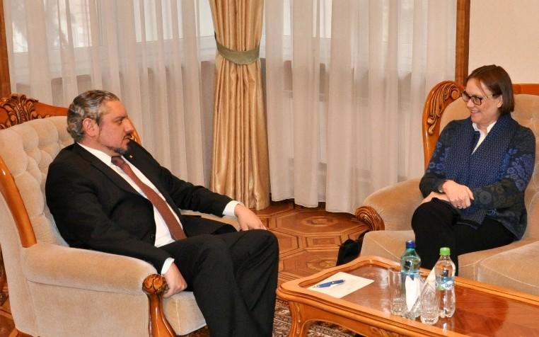 Viceprim-ministrul Andrei Galbur a primit-o pe Ambasadorul Regatului Norvegiei Tove Bruvik Westberg