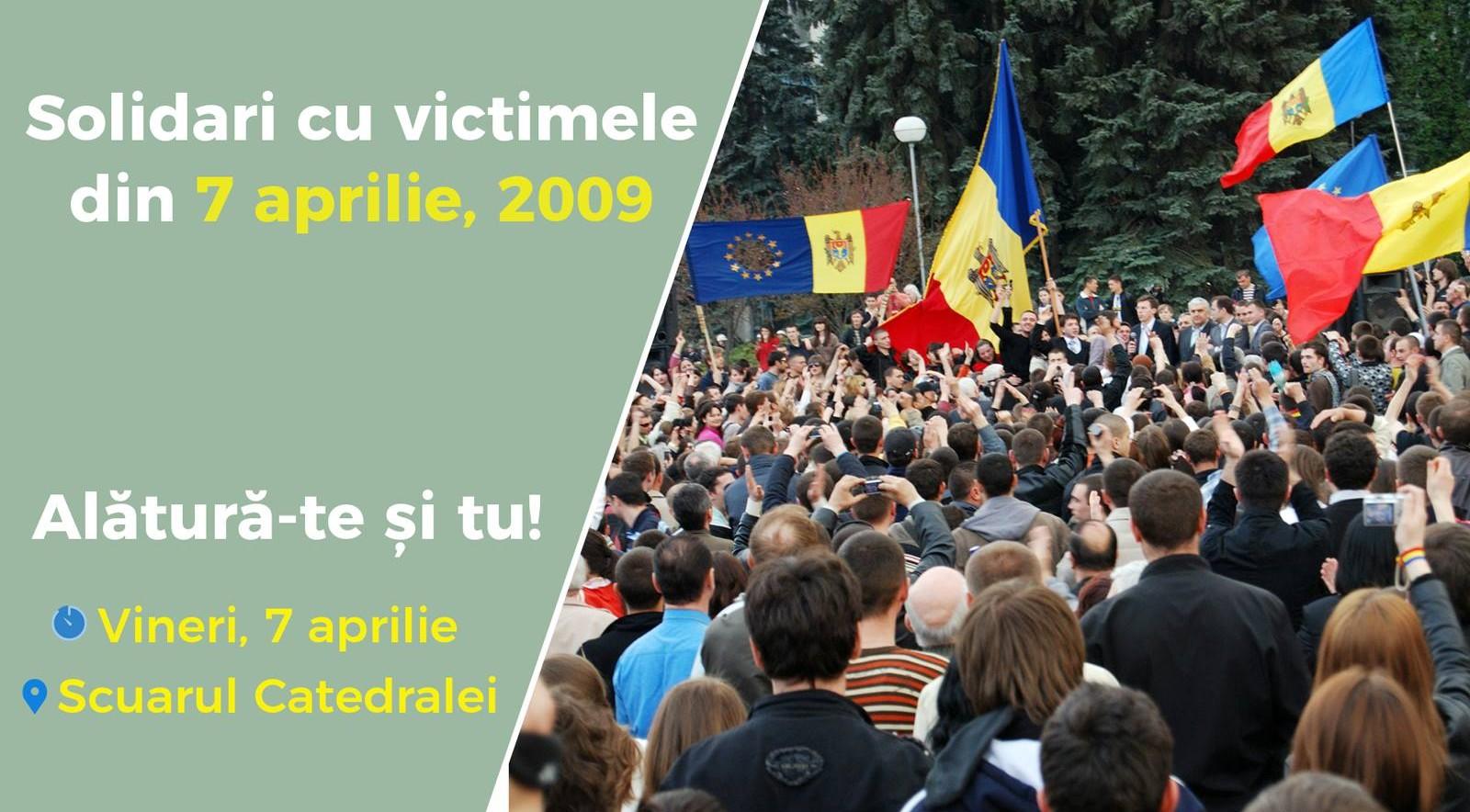"""""""Solidari cu victimele"""": Un flashmob dedicat evenimentelor din 7 aprilie va avea loc la Chișinău"""