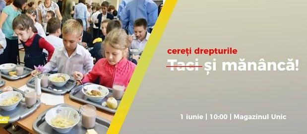 Taci și mănâncă! De 1 iunie, marș împotriva inacțiunii statului, în asigurarea unei alimentații calitative copiilor