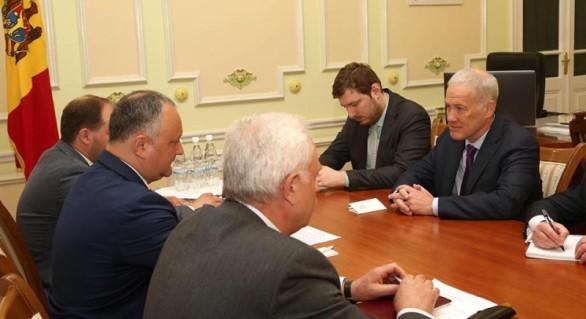 Subiecte privind parcursul reglementării transnistrene la etapa actuală, discutate de Igor Dodon cu șeful Misiunii OSCE în Moldova