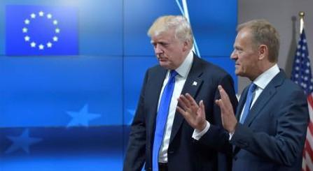 """UE și SUA nu au o """"poziție comună"""" cu privire la Rusia, declară Tusk după prima întrevedere cu Trump"""