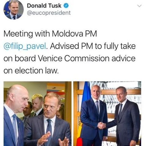 """Preşedintele Consiliului European cere Chișinăului să respecte """"pe deplin"""" avizul Comisiei de la Veneția"""