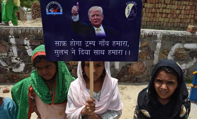 """(FOTO) Un sat indian și-a schimbat numele în """"Trump"""": Îl omagiază pe președintele american"""