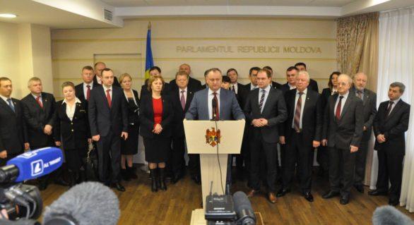 """PSRM """"contestă"""" declaraţiile PDM cu privire la """"cea mai mare fracţiune în Parlament"""". """"Structura Parlamentului care s-a constituit acum, nu este o structură legală"""""""