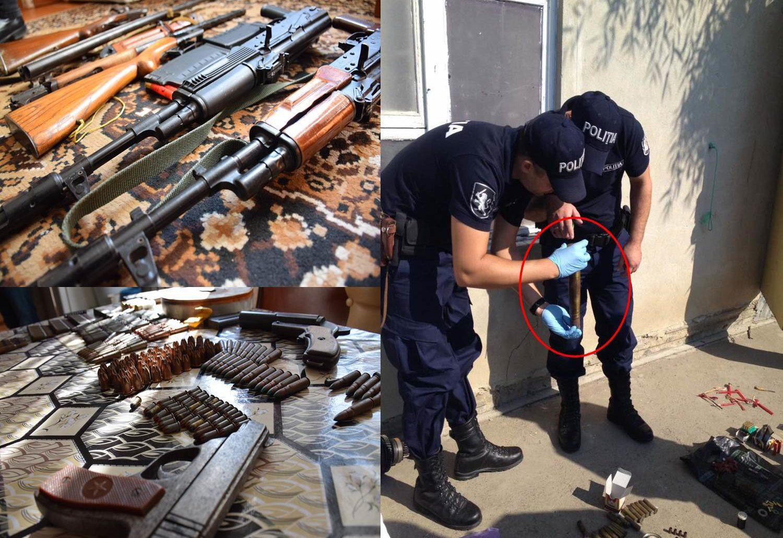 (VIDEO) Arme și muniții de diferit calibru, reținute la un bărbat din Republica Moldova: Ce riscă suspectul
