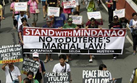 Filipine: Parlamentul a votat prelungirea legii marțiale în Mindanao până la 31 decembrie