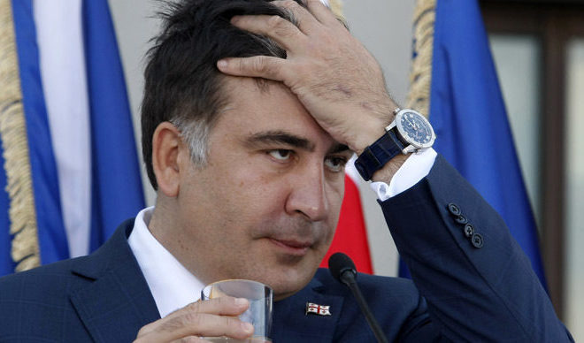 Mihail Saakașvili este acuzat oficial de trecerea ilegală a frontierei ucrainene