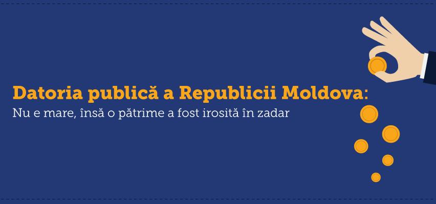 (INFOGRAFIC) Datoria publică a Republicii Moldova: Nu e mare, însă o pătrime a fost irosită în zadar
