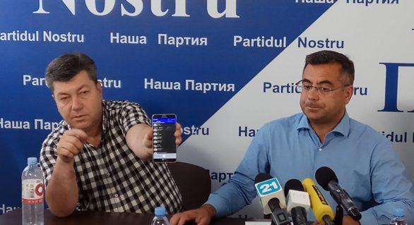 """(VIDEO) """"Partidul Nostru"""" îl acţionează în instanţă pe şeful IGP. Membrul formaţiunii, acuzat de """"acţiune"""", are înregistrarea audio integrală"""