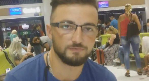 """(VIDEO) """"Mi-a venit şi mie rândul"""": Mesajul de adio al unui moldovean care a emigrat astăzi, citit pe Aeroportul Chişinău"""