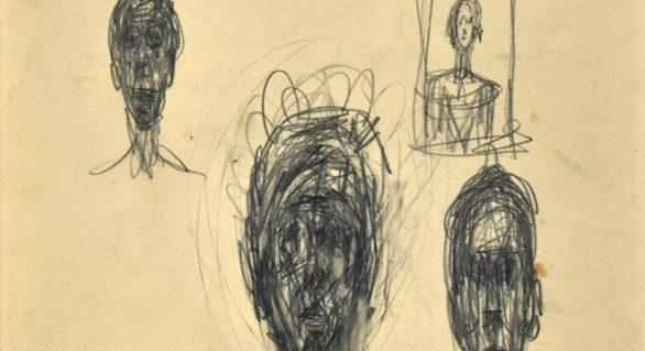 Schițe ale pictorului Alberto Giacometti, descoperite într-un magazin de antichități din Londra