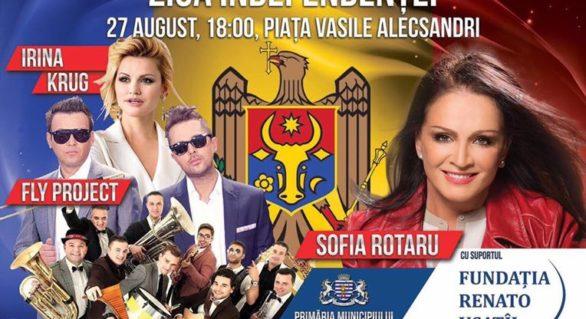 (VIDEO) Concert grandios la Bălți de Ziua Independenței. Sofia Rotaru, invitata de onoare a lui Renato Usatîi