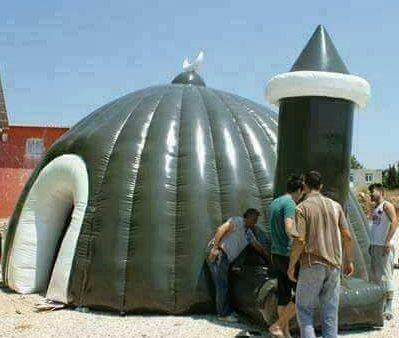 Incredibil: Erdogan a inaugurat primele moschei gonflabile