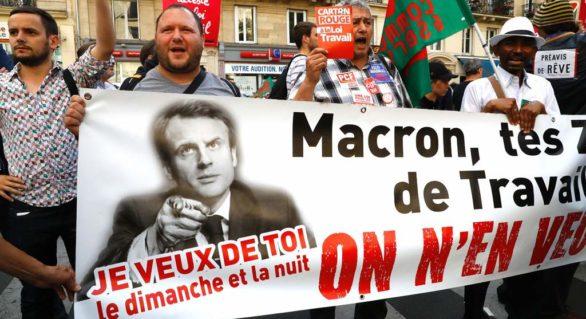Francezii se opun prin proteste măsurilor de reformare a pieței muncii propuse de președintele Macron