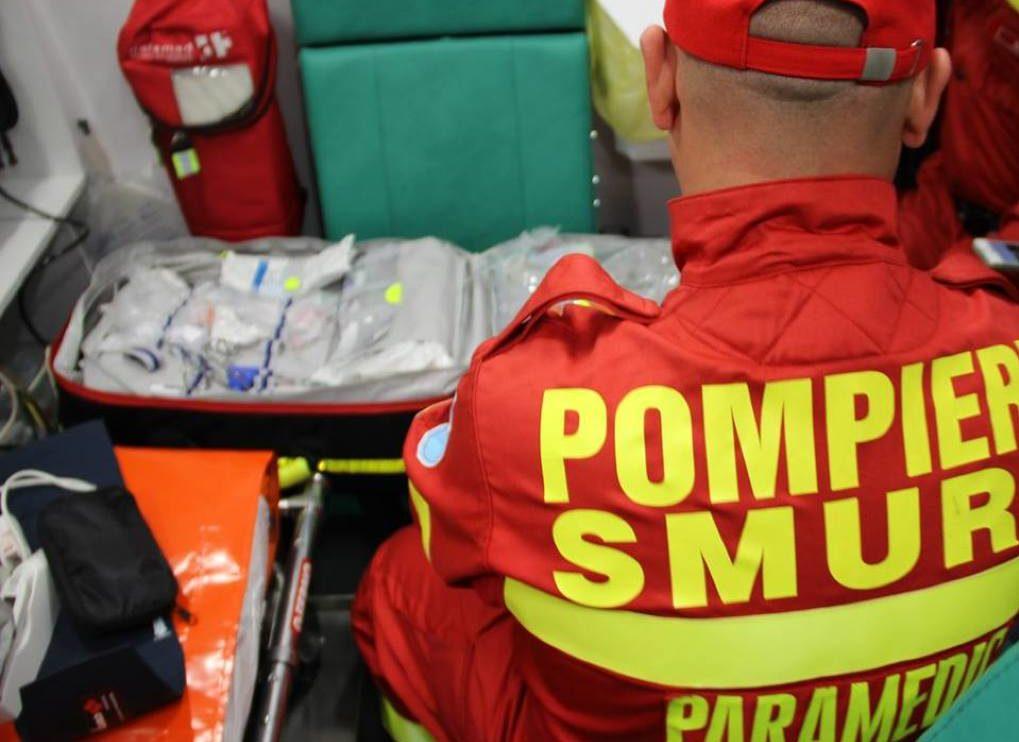 Intervenția SMURD pentru un bărbat accidentat la Suceava