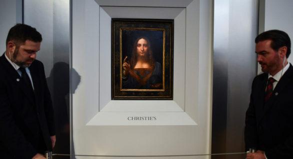 """Tabloul """"Salvatorul lumii"""" de Leonardo da Vinci, estimat la 100 de milioane de dolari, va fi licitat la Christie's"""
