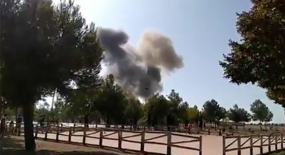 Avion militar Eurofighter, prăbuşit în Spania după participarea la parada dedicată Zilei Naţionale