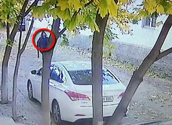 (VIDEO) Un tânăr a fost reţinut pentru furt din automobile