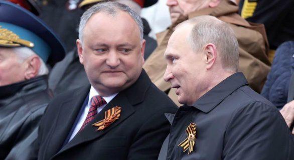 Dodon, în extaz după ce Putin și-a anunțat candidatura la prezidențiale