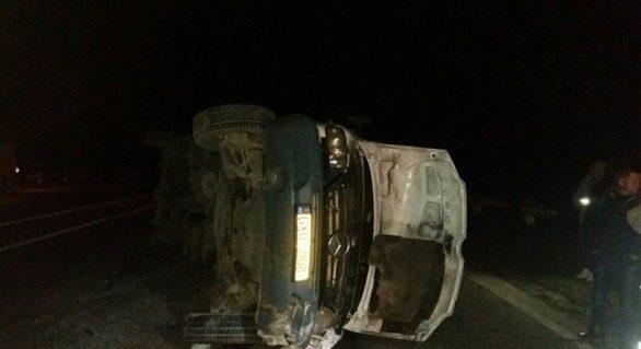 (FOTO) Accident produs în apropiere de Strășeni. Șofer mort prins între fiare