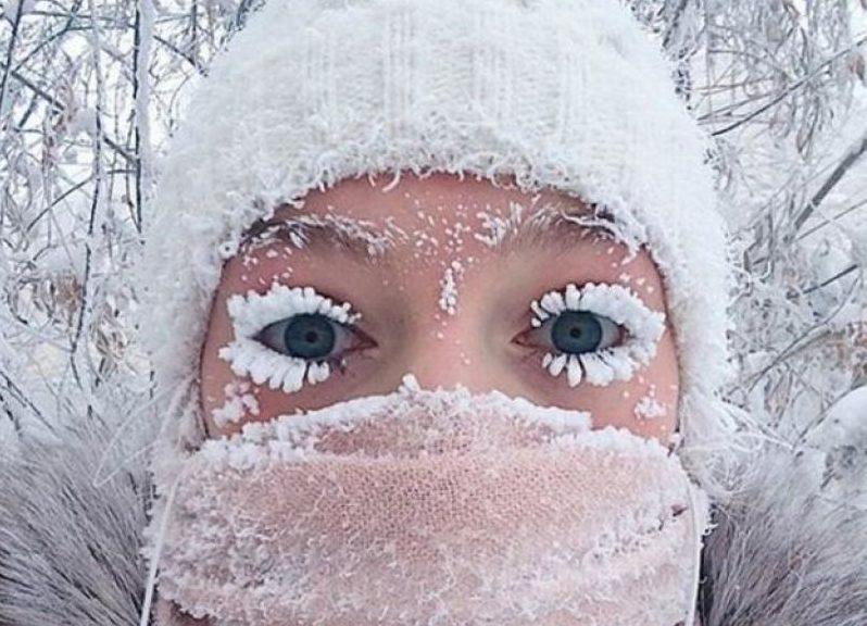 (FOTO) O fotografie surprinsă la -60 de grade Celsius a devenit virală; Decembrie 2017 a doborât un record în Rusia