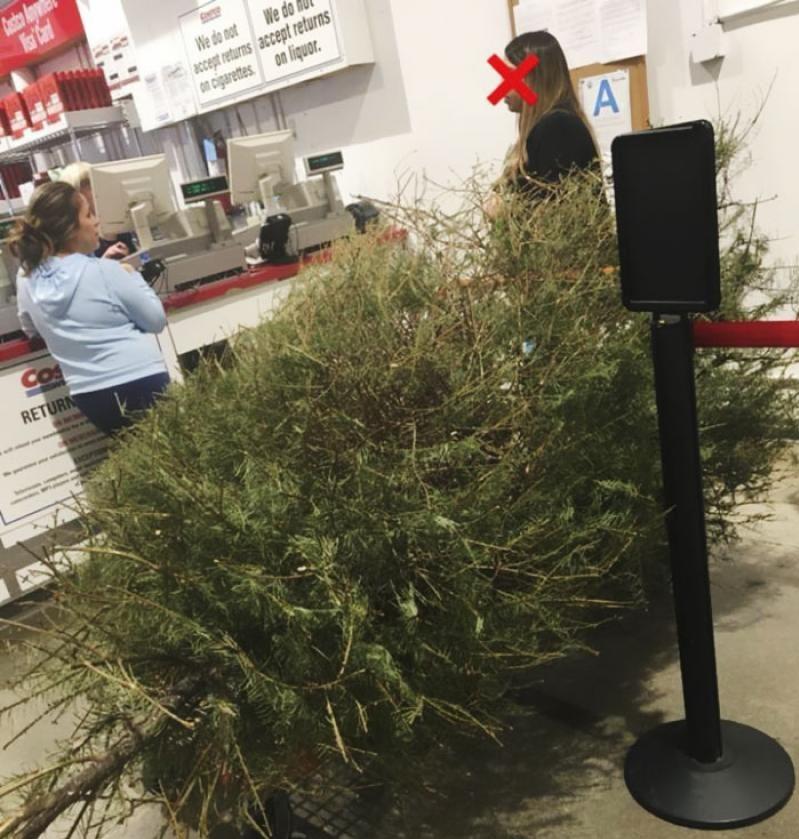 """O femeie a returnat pomul de Crăciun după sărbători, motivând că este """"mort"""""""