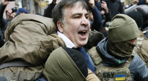 """Mihail Saakașvili, """"răpit"""" de forțele speciale ucrainene în timp ce lua masa la un restaurant"""
