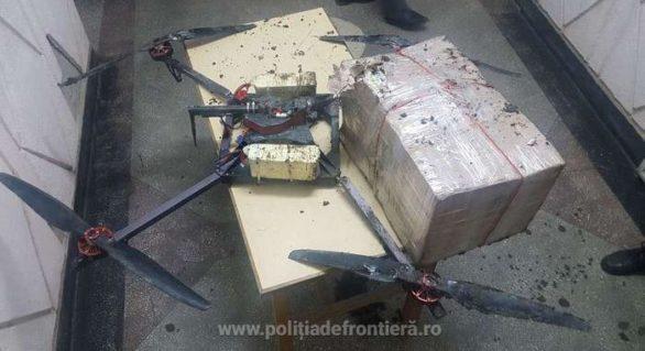 Contrabandiști hi-tech în Moldova! Au încercat să transporte țigări peste frontieră cu drona, dar aparatul de zbor s-a prăbușit