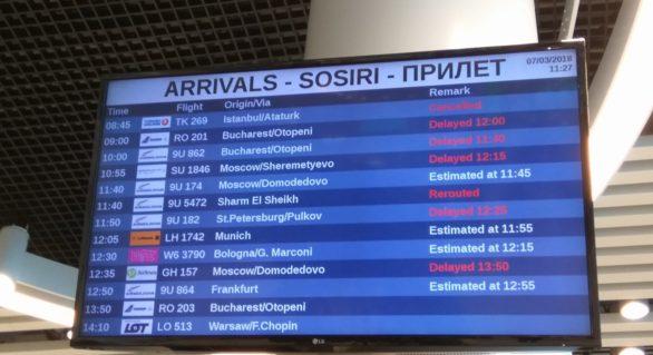 Condițiile meteo nefavorabile dau peste cap activitatea Aeroportului Chișinău, dar și programul vizitei unui ministru ungar