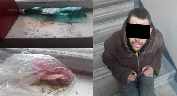 Consumator de droguri, reținut de oamenii legii în scara unui bloc de locuit din capitală