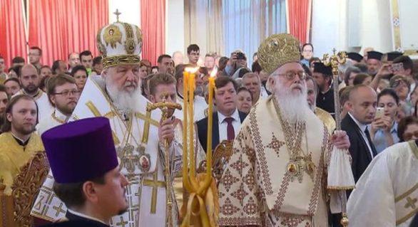Patriarhul Kirill a celebrat duminică o slujbă religioasă la Tirana