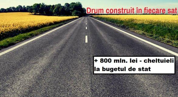 Reparația drumurilor anunțată de Plahotniuc, crește cheltuielile bugetare cu 800 de milioane de lei. Pentru alimentarea copiilor – doar 50 de mln.