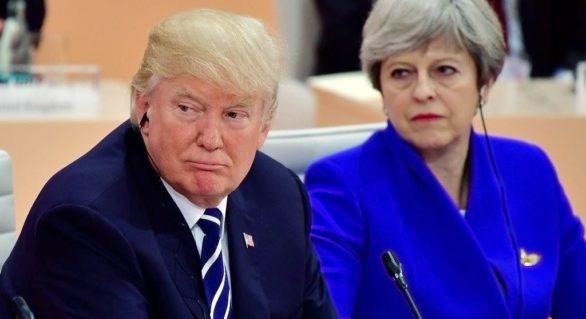 Motivul pentru care Theresa May îi cere lui Trump să evite Londra în timpul vizitei sale din Marea Britanie