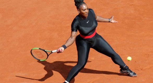 Serena Williams în combinezon negru la Roland Garros. Motivul care s-a decis la această ținută