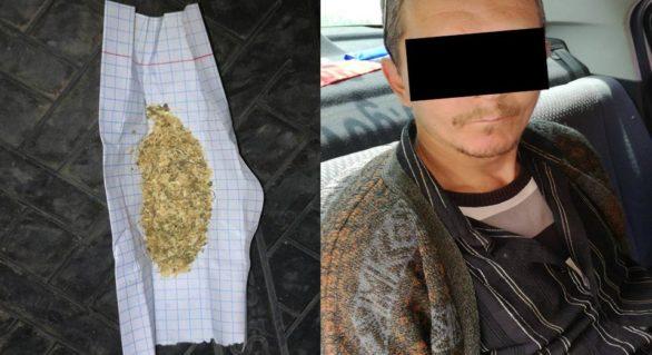 Consumator de droguri reținut în sectorul Rîşcani al capitalei