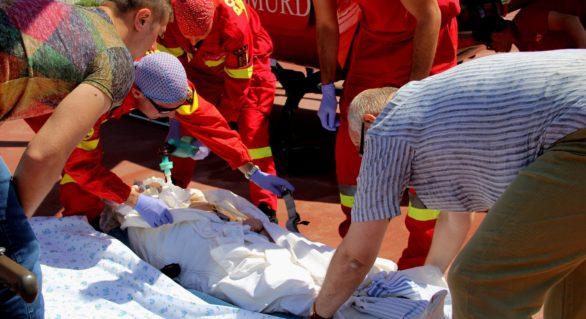 (VIDEO) Tânăra accidentată grav la Vulcănești, transportată la Chișinău de un echipaj SMURD România