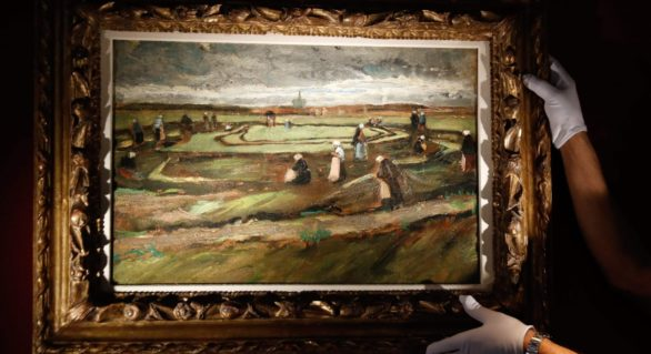 Un peisaj de Van Gogh, la începutul carierei sale, vândut la licitație pentru un preț record