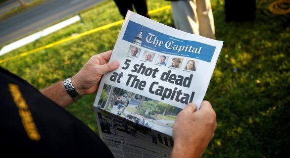 Publicaţia americană Capital Gazette nu a renunțat la ediția de vineri, în pofida atacului armat soldat cu cinci morți