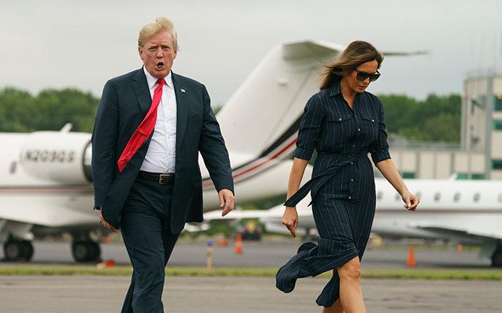 Donald Trump, criză de furie la bordul Air Force One pentru că un televizor era setat pe CNN