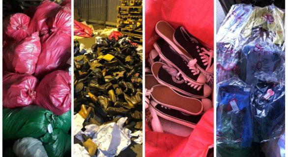 Tentativă de contrabandă cu 14,4 tone de haine și încălțăminte noi, declarate ca fiind second-hand