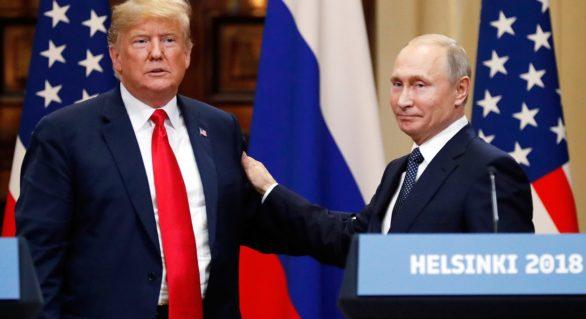 """Coperta revistei Time: Trump cu trăsături asemănătoare lui Putin și """"Criza summitului"""""""