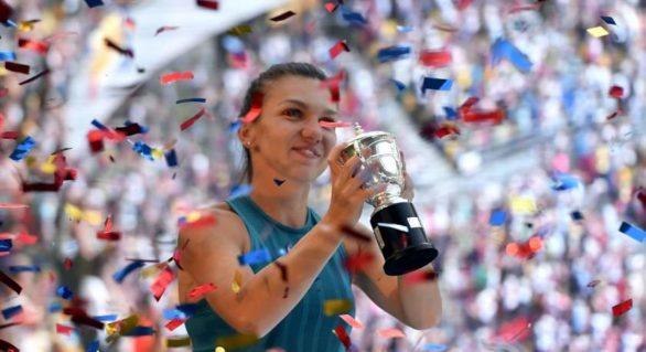 Simona Halep, 49 de săptămâni pe locul 1 WTA. Avantajul față de Wozniacki, mai mic de 1.000 de puncte