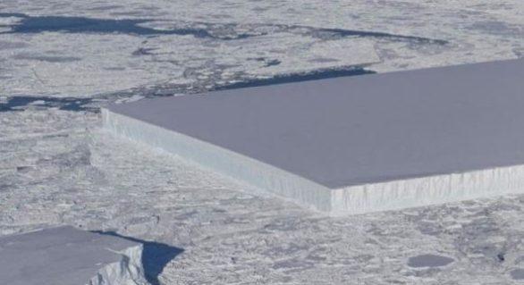 Un aisberg neobișnuit, fotografiat de NASA. Cum explică specialiștii forma perfectă