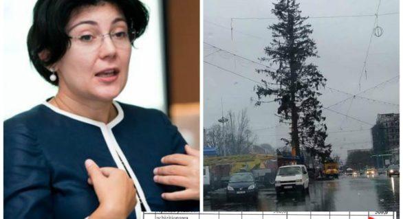 """Silvia Radu a plecat, dar """"cauza ei"""" trăiește! Primăria Capitalei simulează un sondaj înainte de a instala un brad artificial în PMAN"""